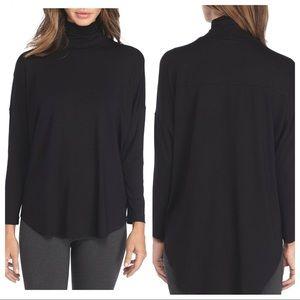Eileen Fisher scrunch Turtleneck Tunic Black med